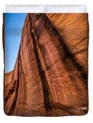 Sandstone Varnish Cliff - Coyote Gulch - Utah Duvet Cover