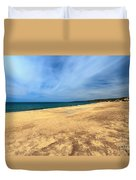 sandy beach in Piscinas Duvet Cover