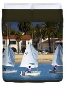 Santa Barbara Harbor Yacht Race Duvet Cover