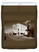 Santa Fe Street Scene Duvet Cover
