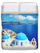 Santorini Island, Greece, Beautiful Duvet Cover