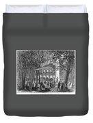 Saratoga Springs, 1865 Duvet Cover