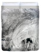 Satellite View Of A Large Noreaster Duvet Cover