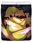 Scanned Rose Water Color Digital Photogram Duvet Cover