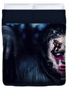 Scary Zombie Looking Gravely Ill. Monster Disease Duvet Cover
