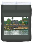 Scene Along Nile River Between Luxor And Qena-egypt  Duvet Cover