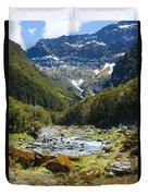 Scenic Valley In New Zealand Duvet Cover