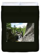 Screw Auger Falls At Grafton Notch State Park  Duvet Cover