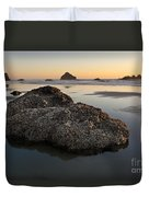 Sea Stacks At Sunset Duvet Cover