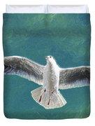 10427 Seagull In Flight Duvet Cover