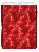 Seamless Fractal Red Duvet Cover