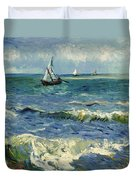 Seascape Near Les Saintes-maries-de-la-mer Duvet Cover