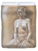Seated Model Drawing  Duvet Cover