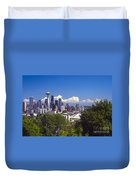 Seattle City View Duvet Cover