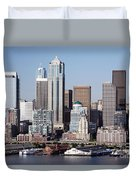 Seattle Skyline Duvet Cover