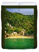 Secluded Beach  Duvet Cover