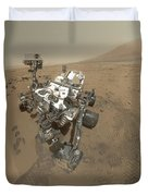 Self-portrait Of Curiosity Rover Duvet Cover by Stocktrek Images