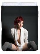 Semi-nude Portrait Duvet Cover
