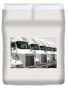 Semi Truck Fleet Duvet Cover