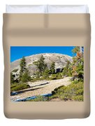 Sentinel Dome From Sentinel Dome Trail In Yosemite Np-ca  Duvet Cover