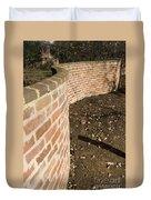 Serpentine Wall University Of Virginia Duvet Cover