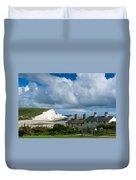 Seven Sisters Cliffs And Coastguard Cottages Duvet Cover