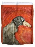 Shaman Original Painting Duvet Cover by Sol Luckman