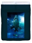 Shark Silhouette Underwater Duvet Cover