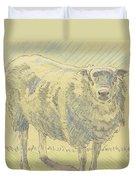 Sheep Sketch Duvet Cover