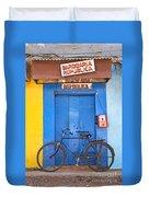 Shop On Street In Goa India Duvet Cover