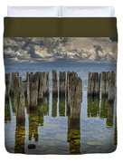 Shore Pilings At Fayette State Park Duvet Cover