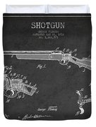 Shotgun Patent Drawing From 1918 Duvet Cover