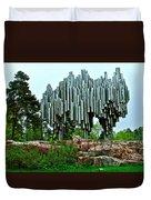 Sibelius Memorial Park In Helsinki-finland Duvet Cover