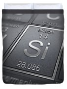 Silicon Chemical Element Duvet Cover