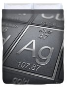 Silver Chemical Element Duvet Cover