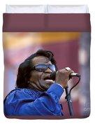 Singer James Brown Duvet Cover
