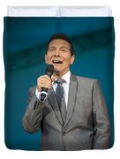 Singer Michael Feinstein Performing With The Pasadena Pops. Duvet Cover