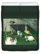 Six Cats Duvet Cover