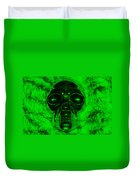 Skull In Green Duvet Cover