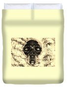 Skull In Sepia Duvet Cover