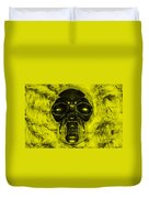 Skull In Yellow Duvet Cover