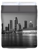 Skyline Of Tampa Along Waterfront Duvet Cover