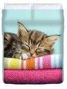 Sleepy Kitten Duvet Cover