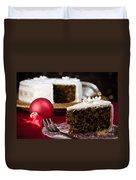 Slice Of Christmas Cake Duvet Cover