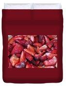 Sliced Strawberries Duvet Cover