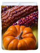 Small Pumpkin And Indian Corn Duvet Cover