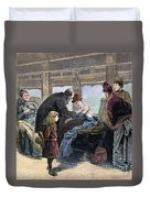 Smallpox Vaccination, 1885 Duvet Cover