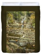 Smalls Falls In Autumn Western Maine Duvet Cover