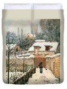 Snow At Louveciennes  Duvet Cover
