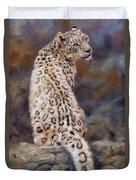 Snow Leopard Duvet Cover